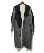 Maison Margiela(メゾンマルジェラ)の古着「パッチワークウールブレンドコート」|グレー