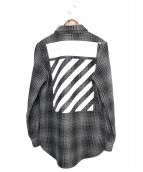 OFFWHITE(オフホワイト)の古着「チェックシャツ」|グレー