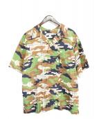 LANDLORD(ランドロード)の古着「カモフラージュチェックシャツ」 グリーン