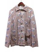 LOEWE(ロエベ)の古着「ダンボジャケット」|ホワイト×ブラック×レッド