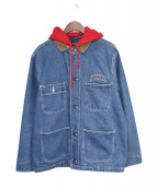 Supreme(シュプリーム)の古着「17AW Hooded Chore Coat」|インディゴ