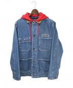SUPREME(シュプリーム)の古着「17AW Hooded Chore Coat」 インディゴ
