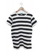 VISVIM(ヴィスヴィム)の古着「ヘビーウェイトボーダーTシャツ」|グレー×ブラック