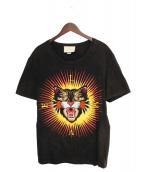 GUCCI(グッチ)の古着「ヴィンテージ加工アングリーキャットTシャツ」|ブラック