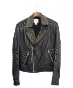 VERSACE(ヴェルサーチ)の古着「ライダースジャケット」|ブラック