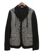 BLACK COMME des GARCONS(ブラックコムデギャルソン)の古着「フーデッドジャケット」|グレー×ブラック