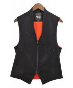 Y-3(ワイスリー)の古着「ジップアップベスト」|ブラック