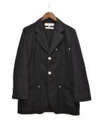 COMME des GARCONS SHIRT(コムデギャルソンシャツ)の古着「ウール混ジャケット」|ブラック
