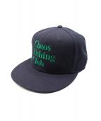 CHAOS FISHING CLUB(カオスフィッシングクラブ)の古着「キャップ」|ネイビー