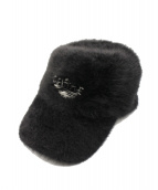 SELF MADE(セルフメイド)の古着「ファーキャップ」|ブラック