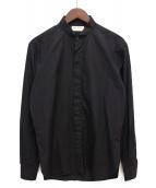 Saint Laurent Paris(サンローランパリ)の古着「ナローカラー比翼シャツ」|ブラック