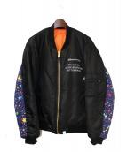 BILLIONAIRE BOYS CLUB(ビリオネアボーイズクラブ)の古着「MA-1ジャケット」|ブラック
