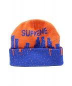 Supreme(シュプリーム)の古着「20SS New York Beanie」|オレンジ×ブルー