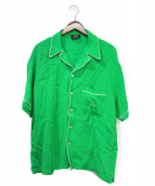 SELF MADE(セルフメイド)の古着「20SS パイピング オープンカラーシャツ」 グリーン