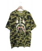 A BATHING APE(アベイシングエイプ)の古着「1st camo シャークTシャツ」|ブラウン