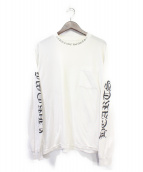 CHROME HEARTS(クロムハーツ)の古着「ネック&アームプリントTシャツ」|ホワイト