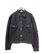 Dior Homme(ディオールオム)の古着「サドルポケットデニムジャケット」|グレー