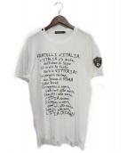 DOLCE & GABBANA(ドルチェアンドガッバーナ)の古着「マメーリ賛歌プリントTシャツ」|ホワイト