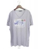 DOLCE & GABBANA(ドルチェアンドガッバーナ)の古着「レタープリントTシャツ」|スカイブルー