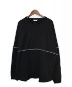 COOTIE(クーティー)の古着「19AW Football Sweatshirt」 ブラック