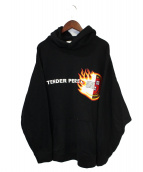 TENDER PERSON(テンダーパーソン)の古着「パーカー」|ブラック
