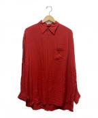 ALLEGE(アレッジ)の古着「ツイルシャツ」 レッド