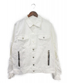 BALMAIN(バルマン)の古着「デストロイデニムジャケット」|ホワイト