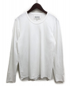 Maison Margiela(メゾンマルジェラ)の古着「エルボー刺繍長袖Tシャツ」 ホワイト