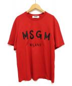 MSGM(エムエスジーエム)の古着「プリントTシャツ」 レッド