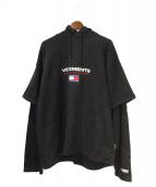 VETEMENTS(ヴェトモン)の古着「パーカー」|ブラック
