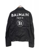 BALMAIN(バルマン)の古着「トラッカージャケット」|ブラック