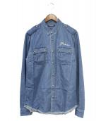 BALMAIN(バルマン)の古着「刺繍シャツ」|インディゴ