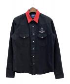 TAKAHIROMIYASHITA TheSoloIst.(タカヒロミヤシタザソロイスト)の古着「×Wrangler western shirt」 ブラック