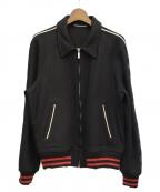 Saint Laurent Paris()の古着「ダメージ加工テディジャケット」|ブラック