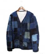 KUON(クオン)の古着「パッチワークジャケット」|ブルー