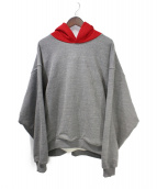 FEAR OF GOD(フィア オブ ゴッド)の古着「HEAVY TERRY EVERYDAY HOODIE」|レッド×グレー
