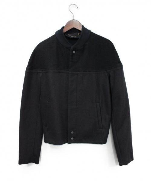 BALENCIAGA(バレンシアガ)BALENCIAGA (バレンシアガ) アンゴラ混ジャケット ブラック サイズ:46の古着・服飾アイテム