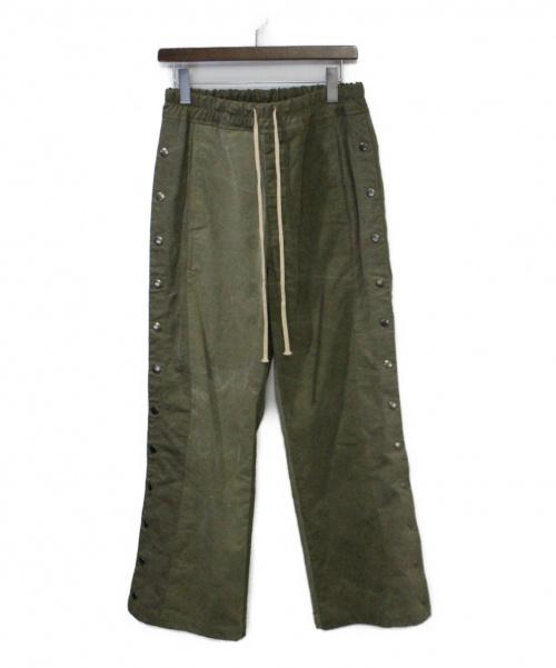 Laid Back(レイドバック)Laid Back (レイドバック) テントクロスサイドボタンパンツ カーキ サイズ:1の古着・服飾アイテム