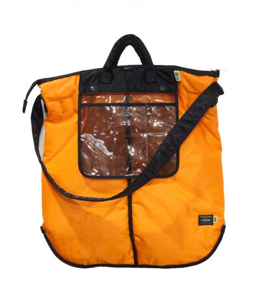 PORTER(ポーター)PORTER (ポーター) ヘルメットバッグ オレンジの古着・服飾アイテム