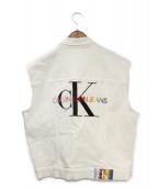Calvin Klein Jeans(カルバンクラインジーンズ)の古着「ベスト」|ホワイト