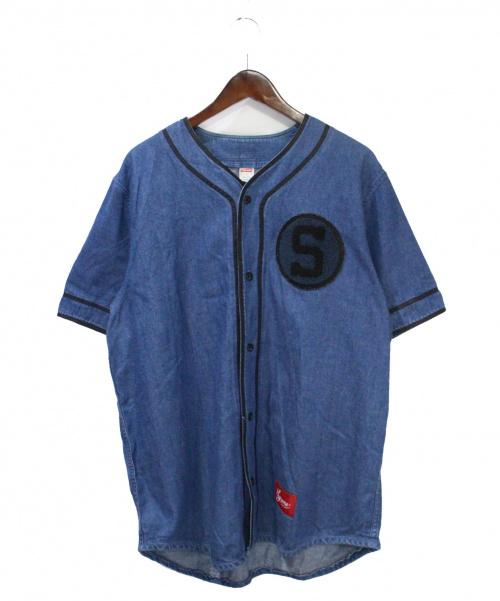 Supreme(シュプリーム)Supreme (シュプリーム) デニムベースボールシャツ インディゴ サイズ:Lの古着・服飾アイテム