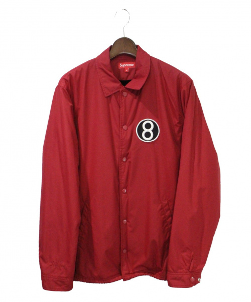 Supreme(シュプリーム)Supreme (シュプリーム) 12AW 8-Ball Coaches Jacket レッド サイズ:Mの古着・服飾アイテム