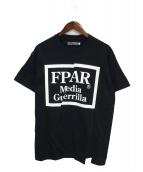 FPAR(フォーティーパーセンツ アゲインストライツ)の古着「Tシャツ」|ブラック