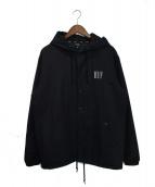 HUF(ハフ)の古着「フーデッドジャケット」|ブラック