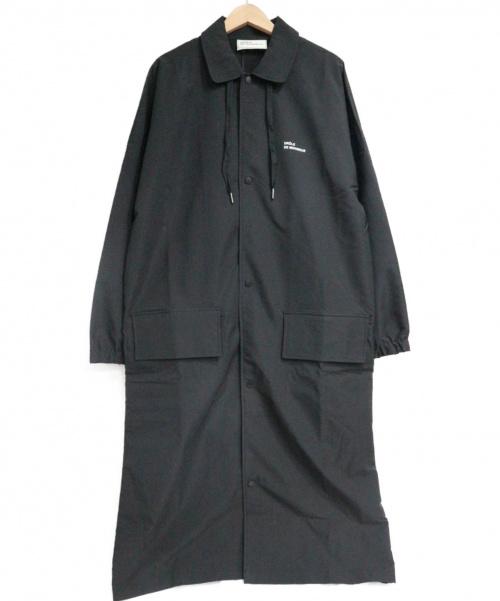 DROLE DE MONSIEUR(ドロールドムッシュ)DROLE DE MONSIEUR (ドロールドムッシュ) NFPM Long Raincoat ブラック サイズ:SIZE M 未使用品の古着・服飾アイテム