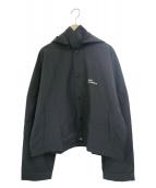 DROLE DE MONSIEUR(ドロールドムッシュ)の古着「バックプリントフーデッドジャケット」|ブラック