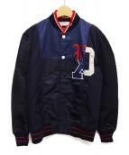 FACETASM(ファセッタズム)の古着「ミックススタジアムジャケット」|ネイビー