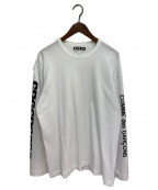 CDG(シーディージー)の古着「エアラインロゴ ロングスリーブTシャツ」 ホワイト