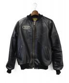 VANSON(バンソン)の古着「9TJV レザージャケット」|ブラック