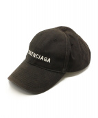 BALENCIAGA(バレンシアガ)の古着「6パネルキャップ」|ブラック